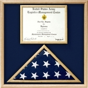 Air Force Flag and certificate Combination Box - Flag / Certificate Display