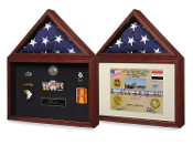 Capitol Presentation Flag Case with Display Shadow Box