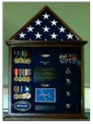 Flag Case, Flag and Badge display cases Flag and Medal Display case, Large flag and medal display cases